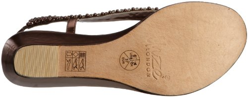 Unze Evening Sandals, Damen Sandalen Braun (L18408W)