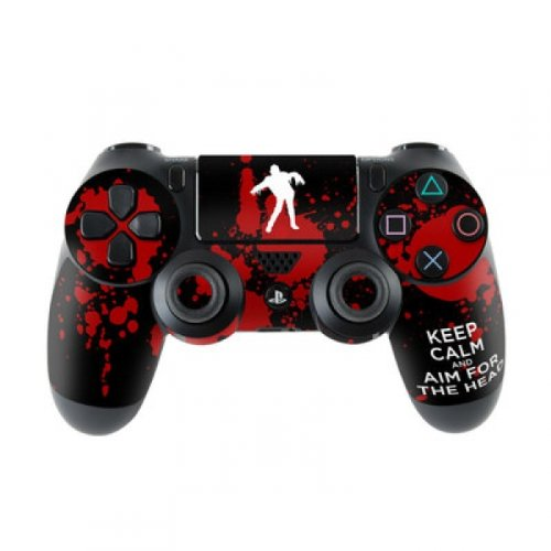 Skins4u Sony Playstation 4 Skin PS4 Controller Skins Design Sticker Aufkleber styling Set auch für Slim & Pro - Keep Calm - Zombie