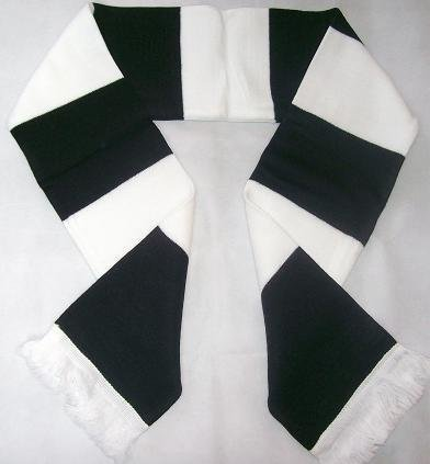 dunfermline-athletic-black-and-white-retro-bar-scarf-price-includes-free-uk-postage