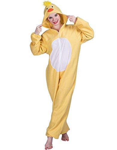 EraSpooky Enten Küken Kostüm Pyjamas Tierkostüm Schlafanzug für Erwachsene Cosplay Kostüm zum Karneval - Küken Kostüm