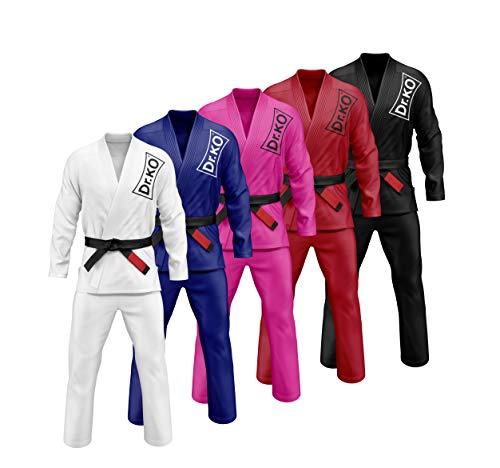 El Brazilian Jiu Jitsu Gi Kimono Dr.K.O. está disponible en varios tamaños, adecuados para todos los tamaños de cuerpo. También está disponible en varios colores: Blanco, Azul, Negro y Rojo El Kimono Dr. K.O. es muy cómodo y altamente resistente con ...