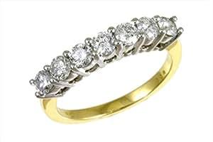 Classical 18 ct Gold Ladies Half Eternity Diamond Ring Brilliant Cut 1.00 Carat HI-I2 Size K