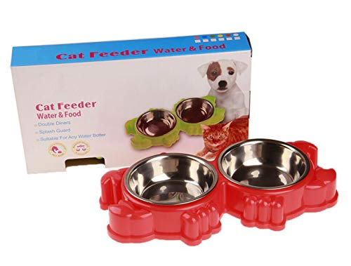 Frank Lot De 2 Gamelles Inox Assiettes Chat Petit Chien Dishes, Feeders & Fountains