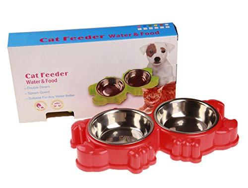 Pet Supplies Frank Lot De 2 Gamelles Inox Assiettes Chat Petit Chien