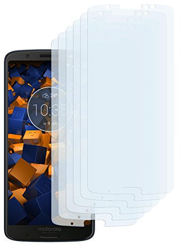 mumbi Schutzfolie kompatibel mit Motorola Moto G6 Plus Folie klar, Displayschutzfolie (6x)