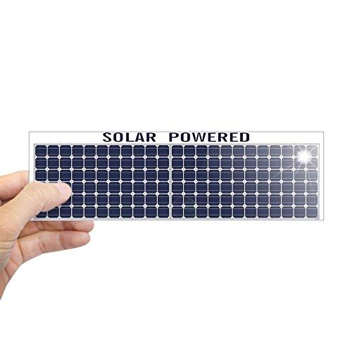 CafePress–Solar Panel Aufkleber (Bumper)–25,4x 7,6cm Rechteck Bumper Aufkleber Auto Aufkleber weiß (Autoaufkleber Politischer Lustiger)