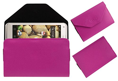 Acm Premium Pouch Case For Lenovo S880 Flip Flap Cover Holder Pink  available at amazon for Rs.179