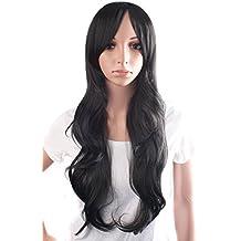 MapofBeauty 70cm/28 pulgada De las mujeres encantadoras y Sexy largo rizado peluca de la
