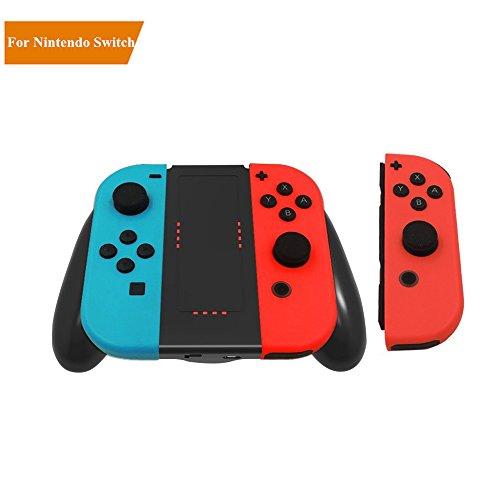 LILY Nintendo Switch Joy-Con Grip de carga con luz indicadora, muelle de carga Agarres para manospara Nintendo Switch Joy Con (negro) 41pv U9q20L