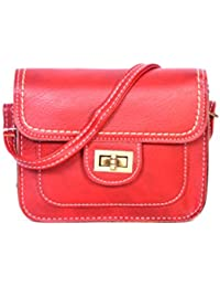 Beautiful Fine PU Leatherette Red Sling Bag For Women & Girls By Bagris GE01001264