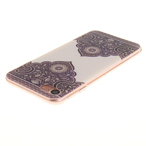 Pour iPhone 7G / 7 Coque,Ecoway Housse étui en TPU Silicone Shell Housse Coque étui Case Cover Cuir Etui Housse de Protection Coque Étui iPhone 7G / 7 –TX-18 TX-17