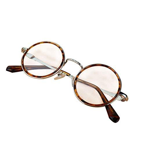 Brille Anti-Müdigkeitsmessung für Männer und Frauen, 100 ° -300 ° Flacher Spiegel der HD-Kristallsteinlinse, alte Schutzbrillen, Mutter und Vati des mittleren Alters und des alten Retro- run