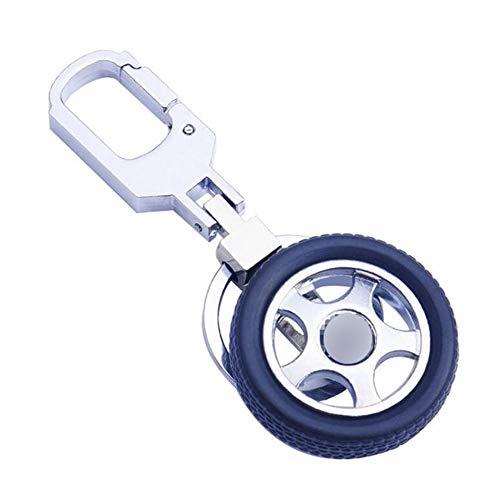 ZL Portachiavi, 360 Gradi Rotazione Portachiavi Pneumatici Auto Logo Pneumatico Portachiavi Creativo Alta qualità