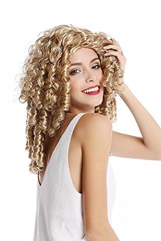 WIG ME UP - 91056-1-ZA7/ZA06 Perücke Damenperücke Karneval Halloween Barock Rokoko Biedermeier Gothic Lolita Cosplay Korkenzieher-Locken lang blond