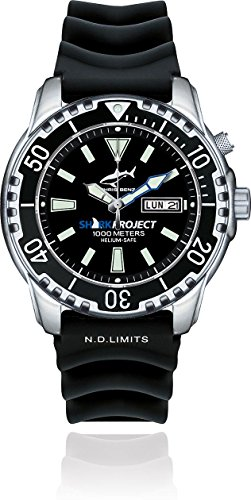 Chris Benz DEEP 1000M SHARKPROJECT EDITION CB-1000-SP-KBS Montre Automatique pour hommes Montre Plongée