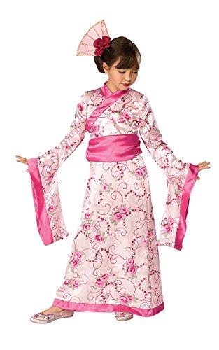 Let's Pretend Child's Asian Princess Pink Kimono Costume, -