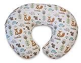 Chicco 05079902060000 BOPPY - Cuscino per allattamento con rivestimento in cotone, motivo: Modern Woodland, colore: Bianco