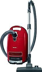 Miele Complete C3 EcoLine Staubsauger Bodenstaubsauger (mit Beutel, EEK A+, 4, 5 Liter Staubbeutelvolumen, 550 Watt, 12 m Aktionsradius, integriertes dreiteiliges Zubehör) rot