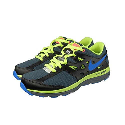 Nike Dual Fusion Lite (Gs), Chaussures de running fille Negro / Gris / Amarillo / Azul