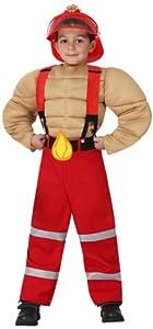 Atosa - Disfraz de bombero para niño, talla 7-9 años (16006)