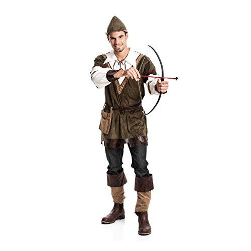 Kostümplanet® Robin Hood Kostüm Herren Faschings-Kostüm Mittelalter Größe (Weibliche Superhelden Mit Schwarzen Kostüm)