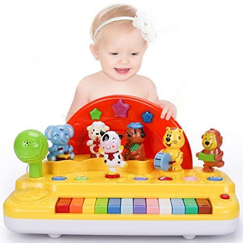 Elektronisches Klavierspielzeug, elektronische Tastatur mit 12 Tasten des Tierparkbabys, Feriengeschenk for Kinder 12-taste Lcd