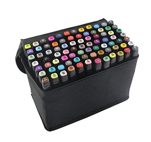 80 Farbige Graffiti Stifte Fettige Mark Farben Marker Set,Twin Tip Textmarker, Metallic Marker Pens--1 mm und 6 mm Linienbreite Graffiti Stift