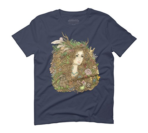Forest Beauty Men's Graphic T-Shirt - Design By Humans Navy