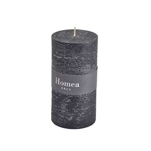 HOMEA 6bpc020nr Kerze Zylindrische Paraffin schwarz 6,8x 6,8x 13cm