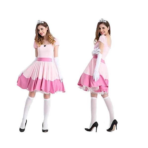 Thematys Super Mario Prinzessin Peach Kleid Kostüm Set Für Damen