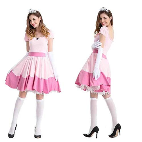 thematys Super Mario Prinzessin Peach Kleid - Kostüm-Set für Damen - perfekt für Fasching, Karneval & Cosplay (Medium)