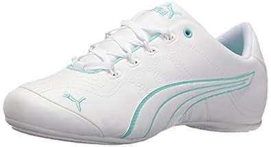 Puma Women's Soleil V2 Comfort Fun Walking Shoe, White White, 9.5 M US