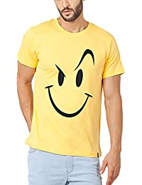Bewakoof Naughty Smiley Men's Cotton Half Sleeve Printed T-Shirts