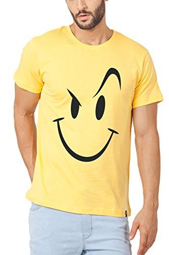 Bewakoof Mens Cotton T-Shirt 109681XL_Yellow