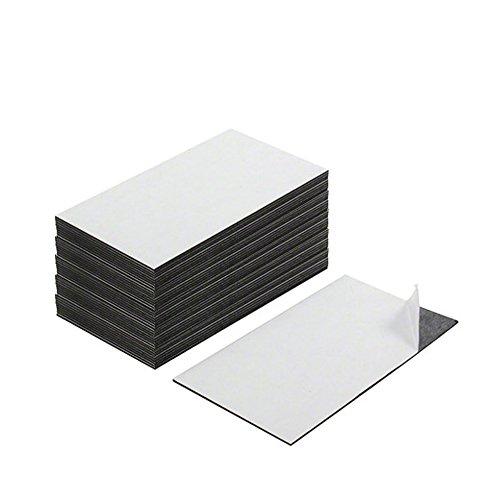 First4magnets MF8951(SA) Visitenkarte-Magnet - Kleber vorne & Magnet auf der Rückseite (89 x 51 x 0,8 mm) (Packung mit 100), silver, 25 x 10 x 3 cm
