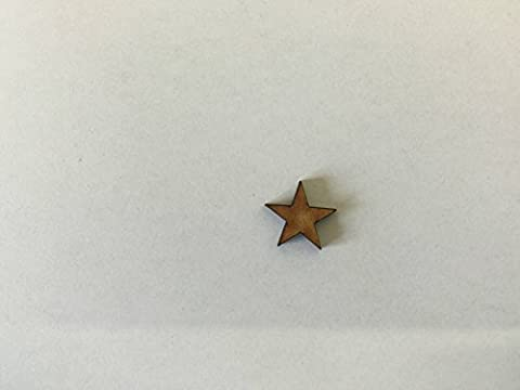 30x Pointy Stars 2cm Wood Craft Embelishments Laser Cut Shape MDF