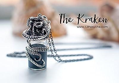 Collier de poulpe. Collier de bouteille de potion, fiole de poison, collier bouteille miniature, cadeau pour les femmes, collier gothique, pendentif pieuvre,