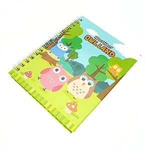 Ring bunt Bound Owl Design Note Buch mit der Seiten Winterversion sind.