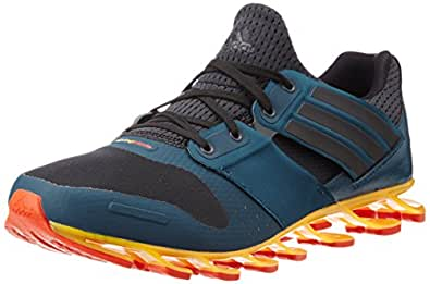 Adidas Men's Springblade Solyce Grey, Black and Blue Mesh
