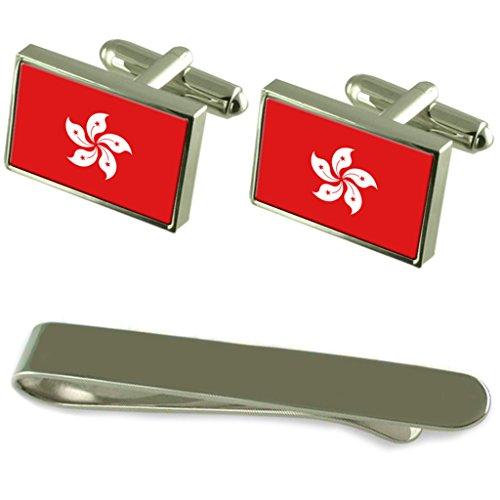 rae-de-hong-kong-bandera-gemelos-plata-clip-box-set-de-regalo