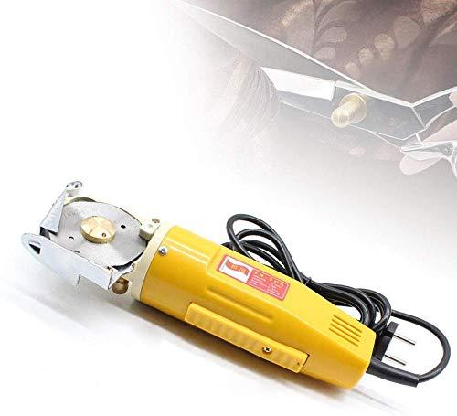 Relaxbx Elektrischer rotierender Stoffschneider Stoffschneider für Stoffscheren, 170 W Stoffschere Elektrische Maschinenschere mit 220 V (170 mm Klinge)
