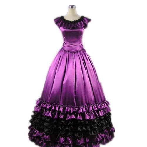 Girls & Secrets - Abito - a tulipano - Floreale - Maniche corte  - ragazza Purple3 X-Small