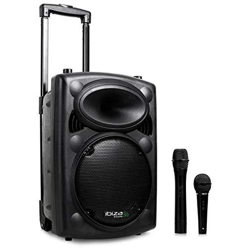 Ibiza Port10VHF-BT-WH Impianto audio portatile cassa attiva (500 Watt, ingressi USB SD...