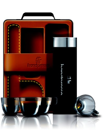 Handpresso 48209 Valisette: 1 Bouteille Isotherme 300 ml + 4 Tasses Incassables + 2 Serviettes