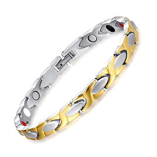 WLXW Reines Titan Armband, Herren und Damen Magnet Armband, Vier Spurenelemente - Schmerzlinderung/Arthritis - Modetrend Armband -