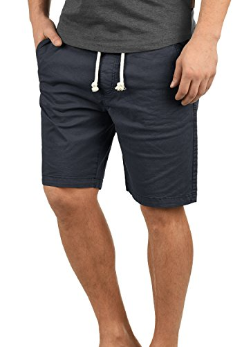 Indicode Abbey Herren Chino Shorts Bermuda Kurze Hose Aus Stretch-Material Regular Fit, Größe:XXL, Farbe:Navy (400) - Stretch Hose Navy