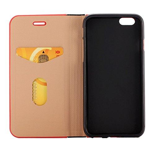 Phone case & Hülle Für iPhone 6 Plus / iPhone 6s Plus, Crystal Texture PC Full Coverage Horizontale Flip Leder Tasche mit Halter & Card Slots ( Color : Brown ) Black