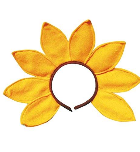Haarreif Sonnenblume, Karneval, Mottoparty, Zubehör, Sommer, (Karneval Rio Mottoparty Kostüme)
