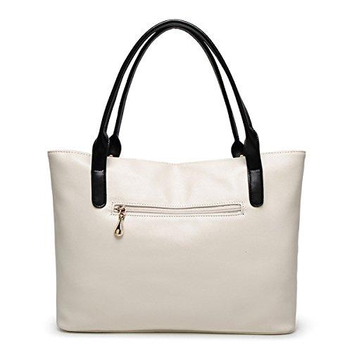 FZHLY Donne Grande Capacità 2017 Primavera E L'estate Nuova Modo Europeo E Americano Spalla Bag,Black White