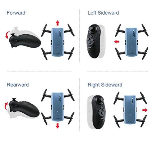 MRULIC JJRC H47 Elfie faltbar 720p HD WiFi FPV Quadcopter 360-Grad-Rotationen in Richtung (Blau) - 3